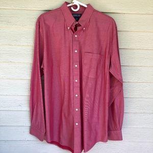 LANDS' END 100% cotton lt red shirt/NWOT